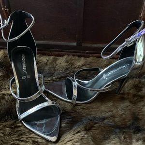 ASOS silver heels
